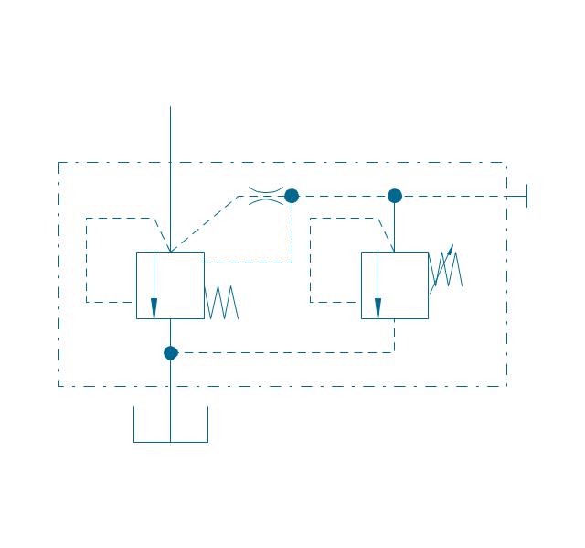 Pressure relief 2, two-stage, pressure relief, valve, provision, remote control,