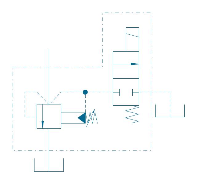 Pressure relief (E), electrically operated, pressure relief, valve,
