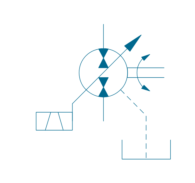 Pump-motor, var., solenoid 2, drain, hydraulic pump motor,