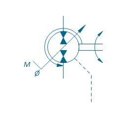 Pump-motor, variable (sgl side), drain, hydraulic variable displacement pump motor,