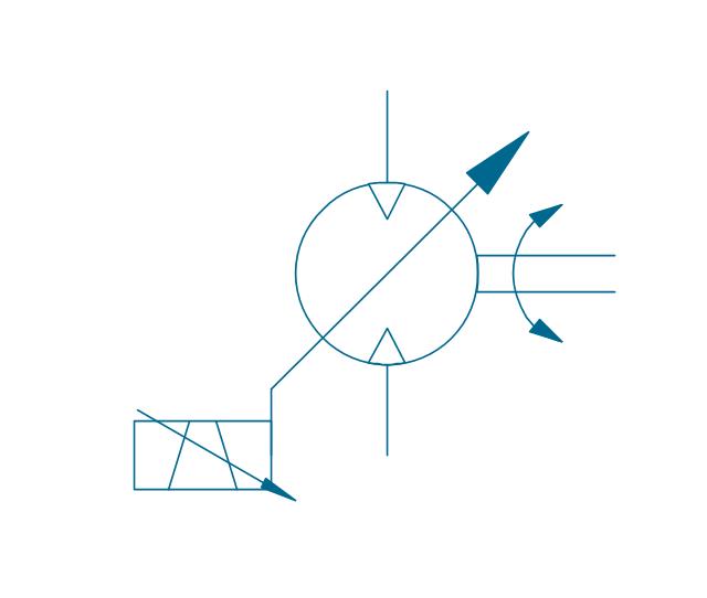 Motor, var., var. solenoid 2, variable displacement pneumatic motor,