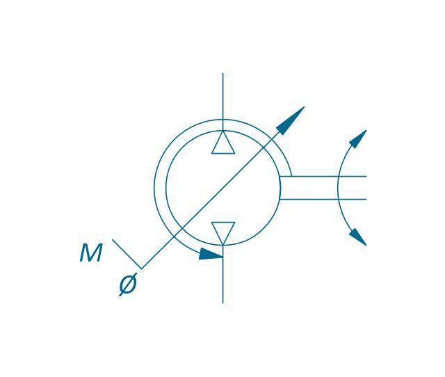 Pump, variable (sgl side), pneumatic variable displacement pump,