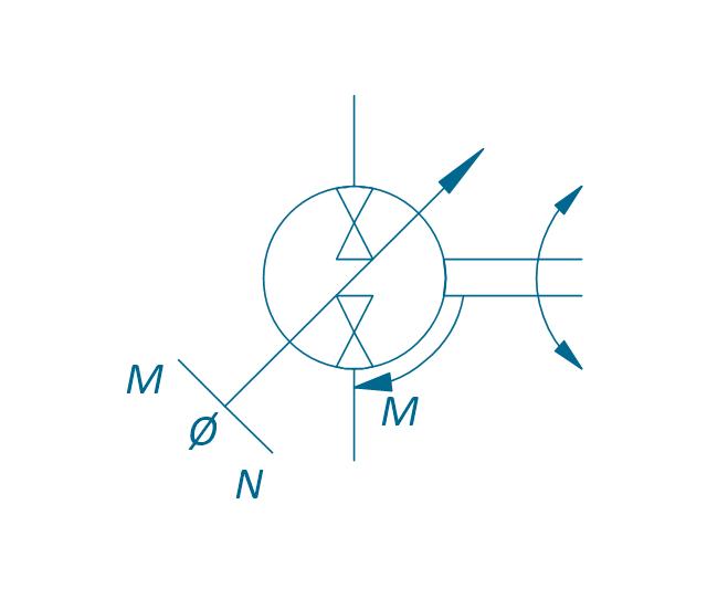 Pump-motor, variable (dbl side), pneumatic variable displacement pump motor,