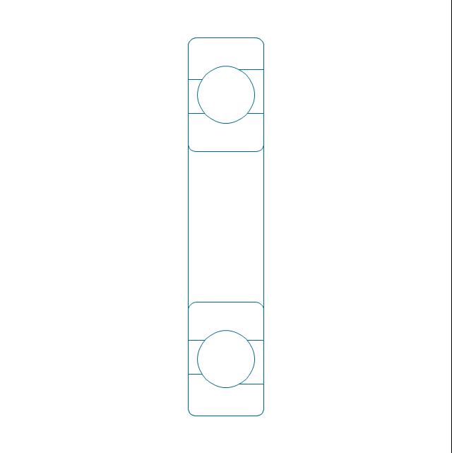 Angular contact ball bearing, unhatched, angular contact, ball bearing,