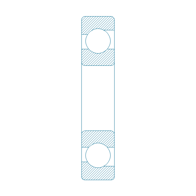 Angular contact ball bearing, hatched, angular contact, ball bearing,