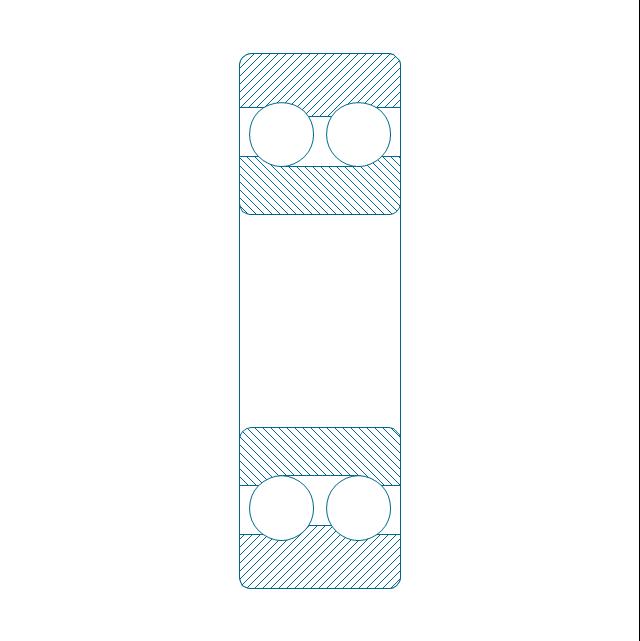 Angular contact ball bearing dbl, hatched, double row, angular contact, ball bearing,