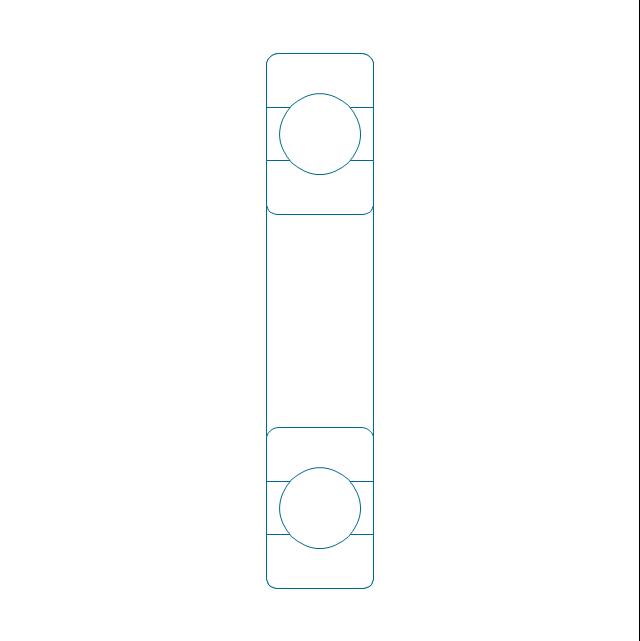 Deep groove ball bearing, unhatched, deep groove, ball bearing,