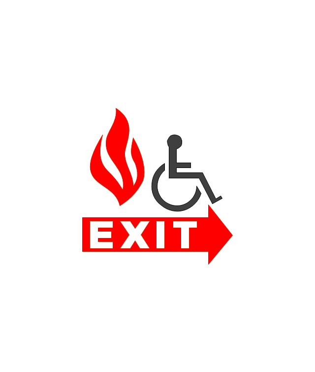 Handicapped Emergency Exit, handicapped emergency exit,