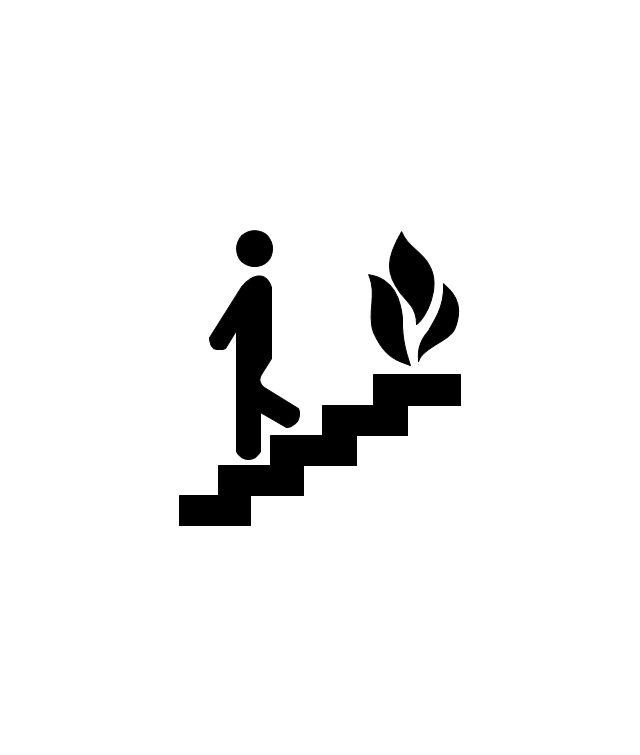 Fire Escape or Fire Exit, fire escape, fire exit,