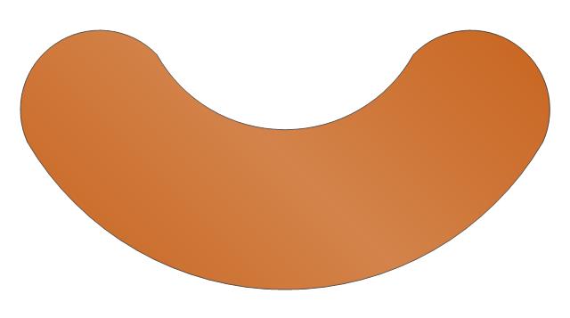 Semi-circular Table, semi-circular table, table,