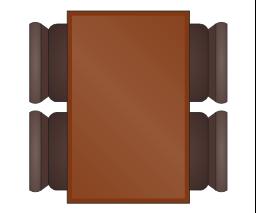 Rectangular Table for 4, rectangular table, table,