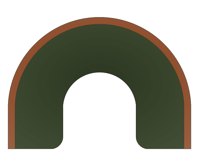 Semicircular Bench, demicircular bench,