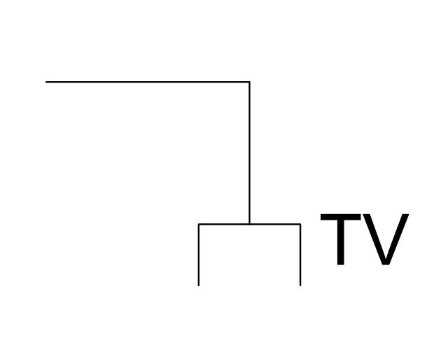 Television outlet, cable television outlet, television outlet, cable TV outlet, TV outlet,