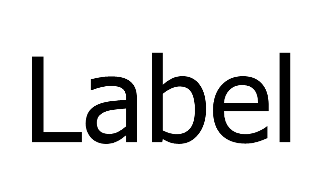 Label, text label,