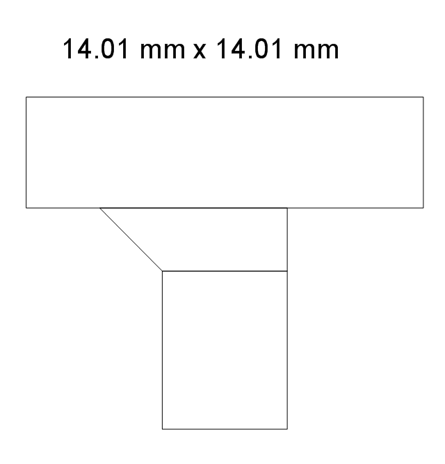 Beveled junction, rect. duct, rect. branch, beveled junction, duct,