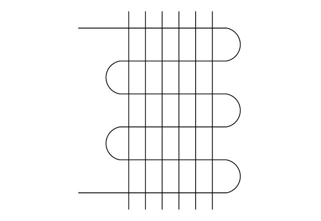 Pipe coil, fins, pipe coil,