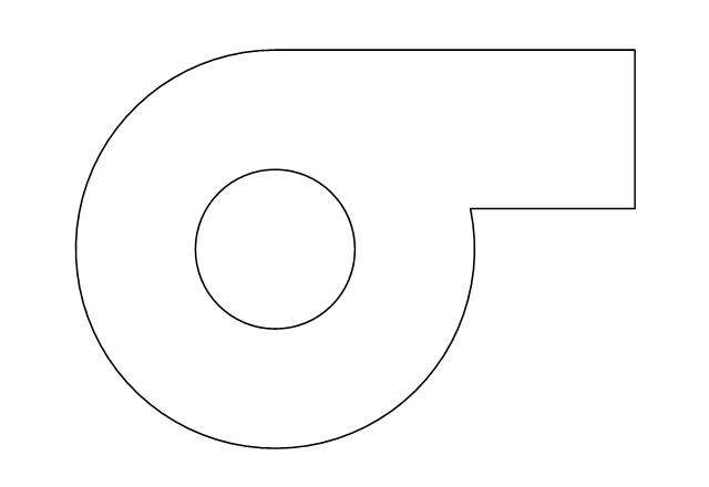 Centrifugal fan, centrifugal fan,