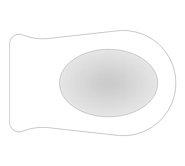 Bathroom - Vector stencils library | Symbol For Wall