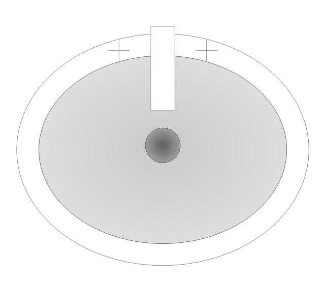 Pedestal Sink 1 (Oval), pedestal sink,