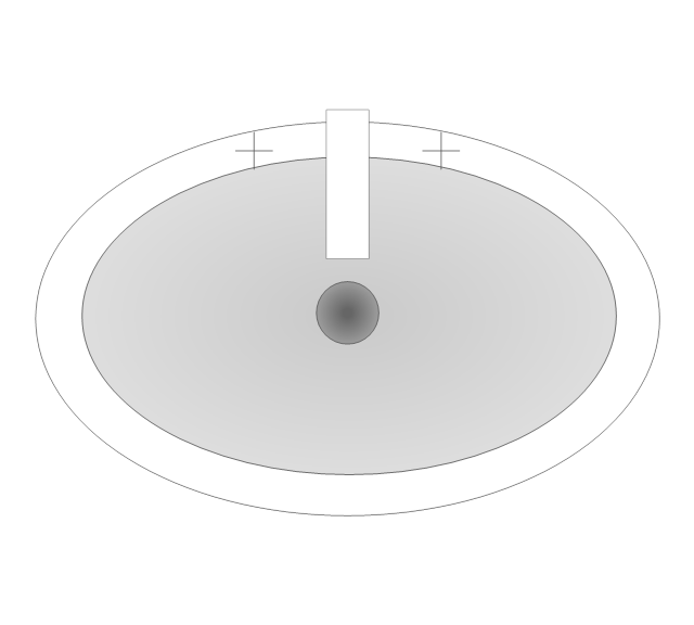 Pedestal Sink 2 (Oval), pedestal sink,