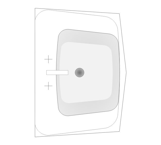 how to draw shower in plan