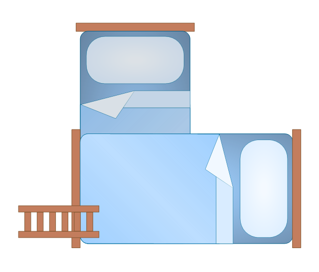Bunk Bed 2 (blue), bunk bed,