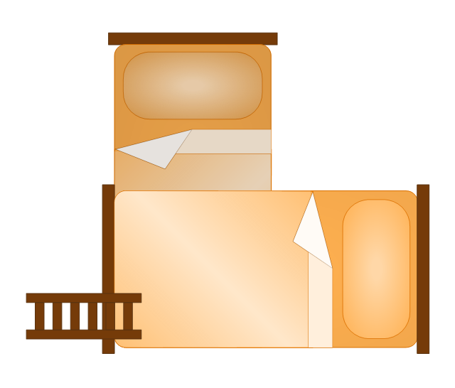 Bunk Bed 2 (orange), bunk bed,