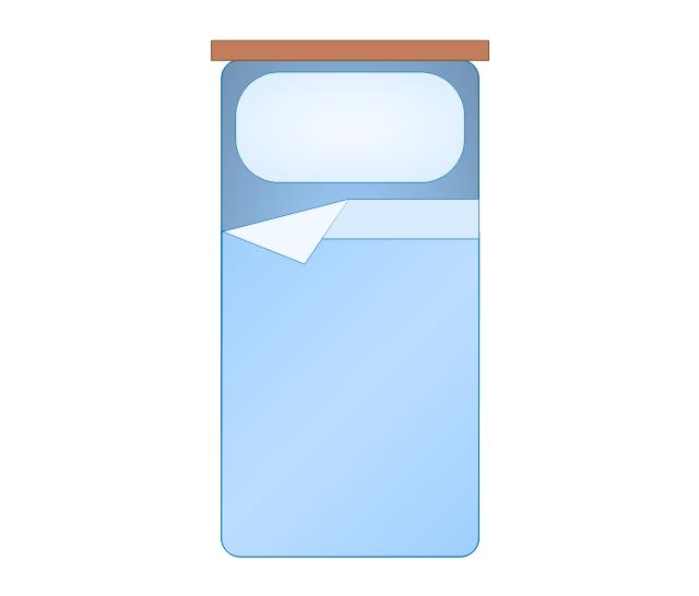 Bedroom Vector Stencils Library How To Make A Floor Plan Design Elements Bedroom Bunk Bed Floor Plan Symbol