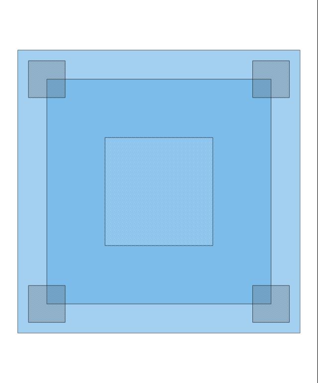 Square Blue Rug, square, blue, rug,