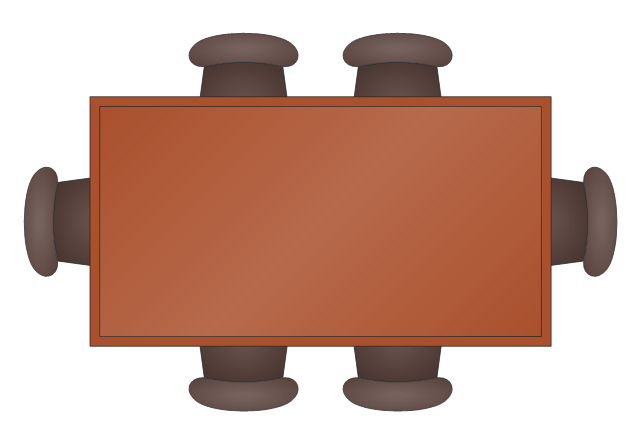 Office furniture Vector stencils library Design  : pict rectangular dining table kitchen and dining room vector stencils librarypng diagram flowchart example from www.conceptdraw.com size 640 x 442 png 39kB