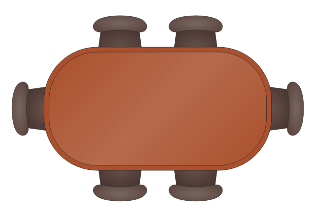 Rectangular Dining Table with Rounded Corners, rectangular dining table, rounded corners,