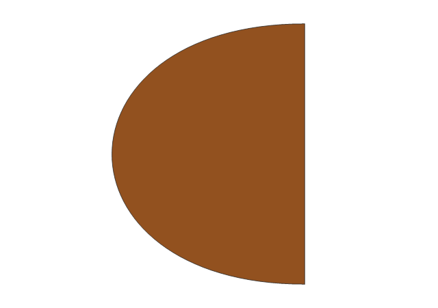 Left Oval Table Leaf, left oval table leaf, oval table leaf, table leaf,