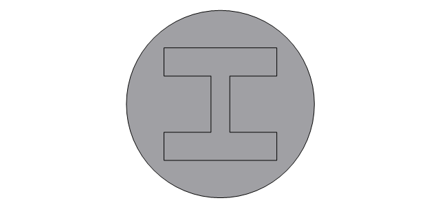 Circular column, steel, circular column, column,