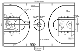 how to draw basketball court seats