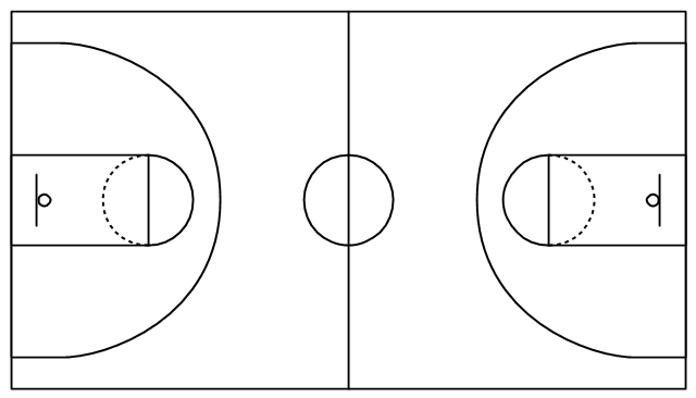 simple basketball court