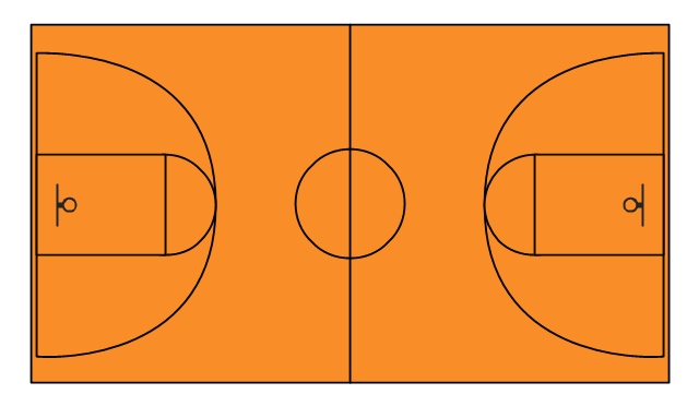 Basketball court, basketball court, basketball court diagram, basketball court layout,