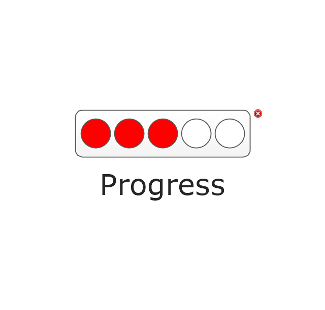 Progress Lights, Red, progress indicator,