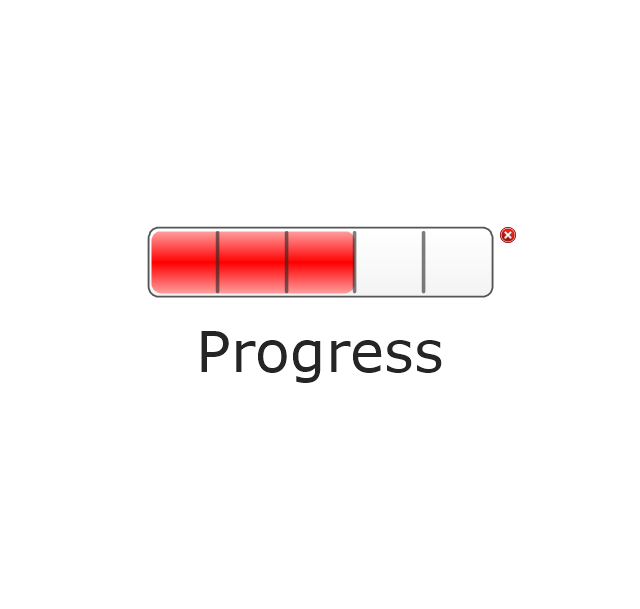 Progress Bar, Red, progress indicator, progress bar,