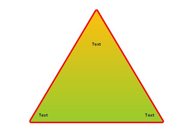 Triangular pyramid, triangle diagram,