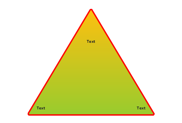 Triangular pyramid, triangle diagram,