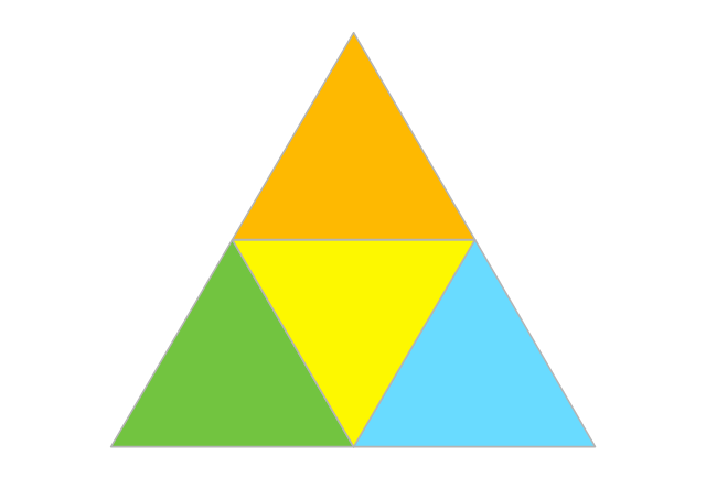 2-level 3d Pyramid Diagram - Template