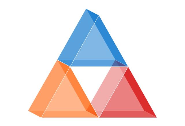 Triangle chart, isometric, triangle chart, triangle, pyramid, triangle diagram,