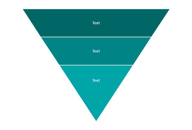 3-level funnel diagram, funnel diagram,