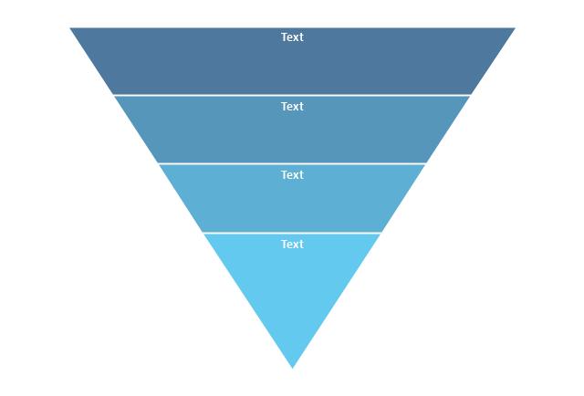 4-level funnel diagram, funnel diagram,