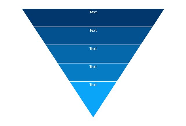 5-level funnel diagram, funnel diagram,