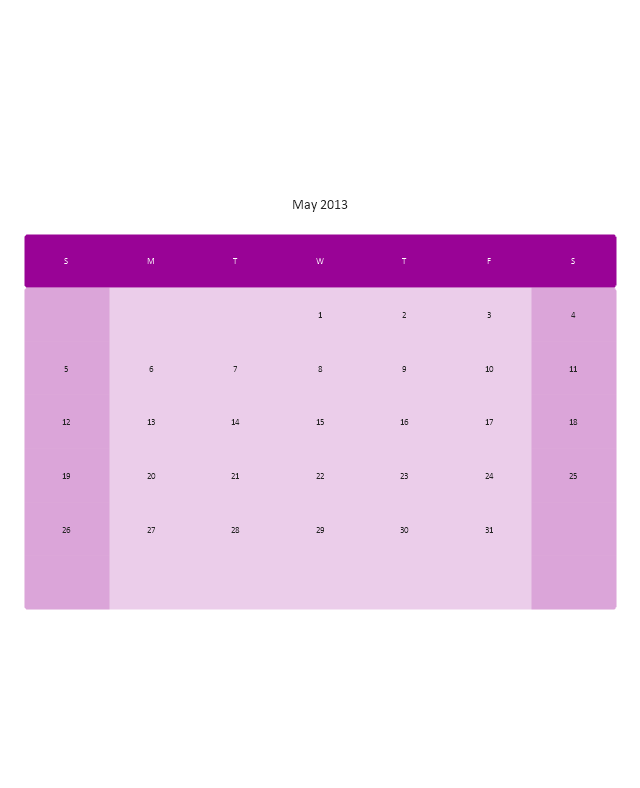 Small Calendar (White, Rounded), month calendar,