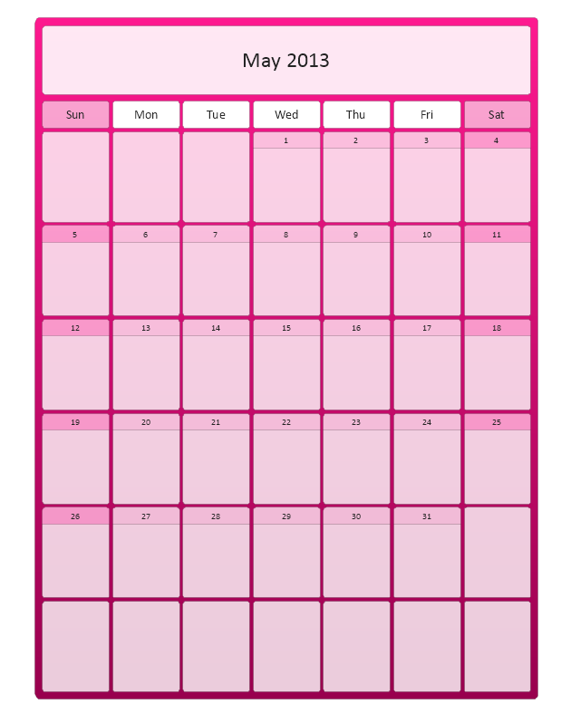 Large Calendar (Color), month calendar,