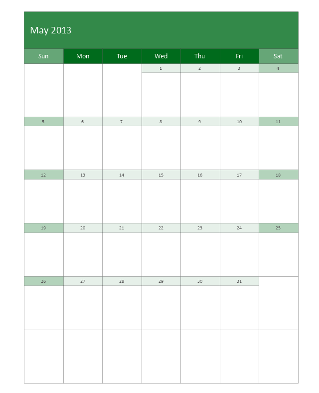Large Calendar, month calendar,
