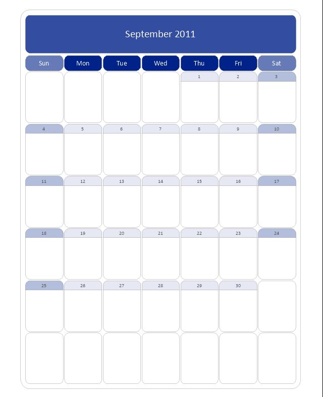 Large Calendar (Rounded), month calendar,