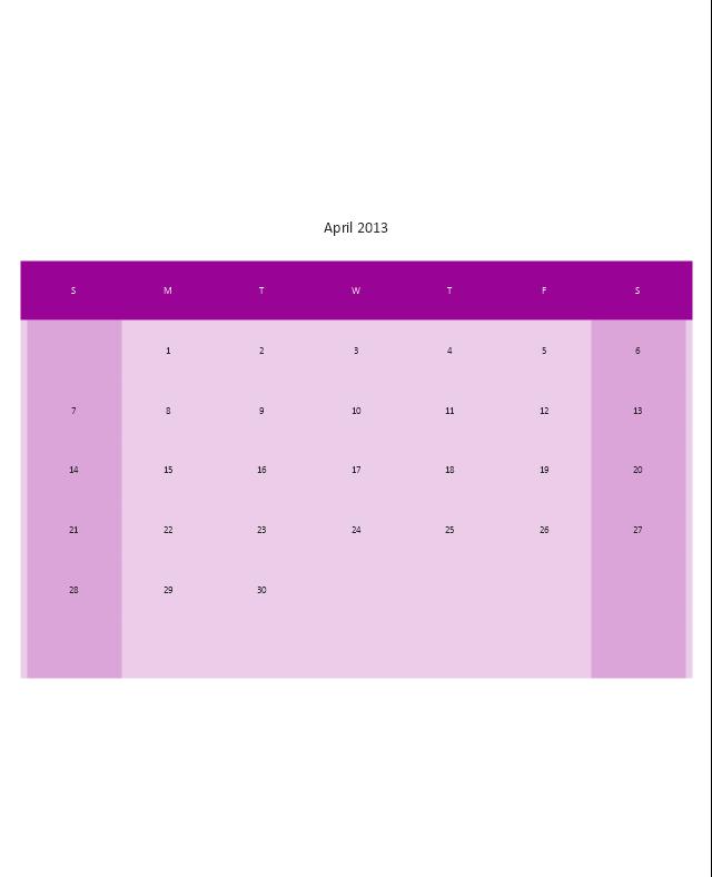 Small Calendar (White), month calendar,
